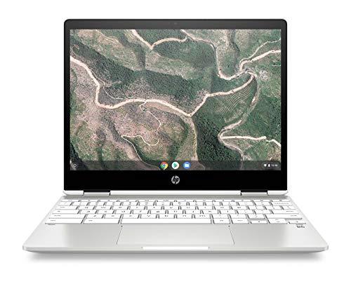 HP Chromebook x360 12b-ca0010nf PC Ultraportable Convertible et Tactile 12'' HD IPS Silver (Intel Celeron, RAM 4 Go, eMMC 32 Go, AZERTY, Chrome OS)