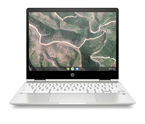 HP Chromebook x360 12b-ca0010nf Ordinateur Portable Convertible et Tactile 12'' HD IPS Silver (Intel Celeron, RAM 4 Go, eMMC 32 Go, AZERTY, Chrome OS)