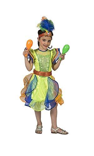 Das Kostümland Brasilianerin Leticia Kostüm für Mädchen Gr. 128