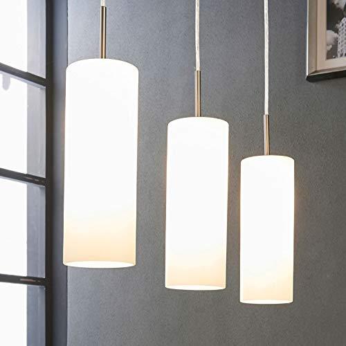 Lindby Pendelleuchte 'Vinsta' (Modern) in Weiß aus Glas u.a. für Wohnzimmer & Esszimmer (3 flammig, E27, A++) - Hängelampe, Esstischlampe, Hängeleuchte, Wohnzimmerlampe