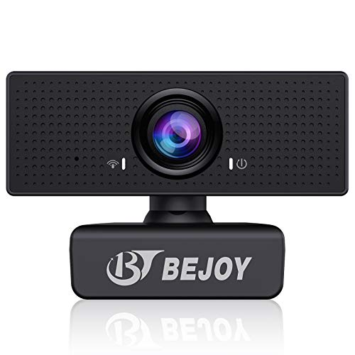 1080P Business HD Webcam with Dual Microphone, BEJOY USB Computer Web Camera [Plug and Play] [30fps], for Streaming Zoom Meeting Skype FaceTime Teams, PC Mac Laptop Desktop