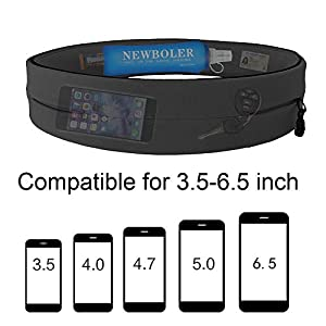 Running belt for Women and Man-Perfect Hands-Free Belt for Runners with Large Pocket-Adjustable Running Pouch Holder for Phones and Accessories-Best Running Pouch Belt Waist Pack Bag (Medium)