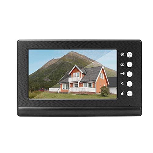 YUTRD ZCJUX Video Door Phone De 7 Pulgadas Video Doorbell Monitor De Soporte Visión Nocturna para El Sistema De Video Intercom (Size : Set 2)