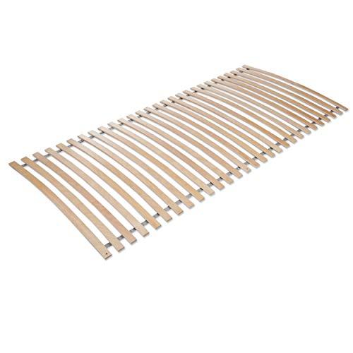 Mister Sandman Lattenrost Rolllattenrost mit 28 hochelastischen Holzleisten – Lattenrost aus Buche, vielfach furniert, bereits montiert, für alle Matratzen (90 x 200 cm)