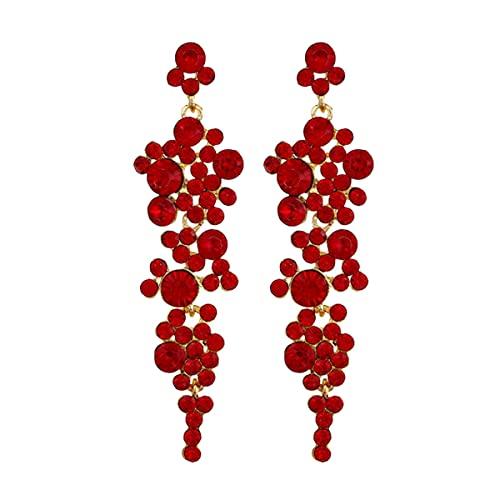 Generic Pendientes Colgantes de Diamantes de Imitación Pendientes de Gota Boda Damas...
