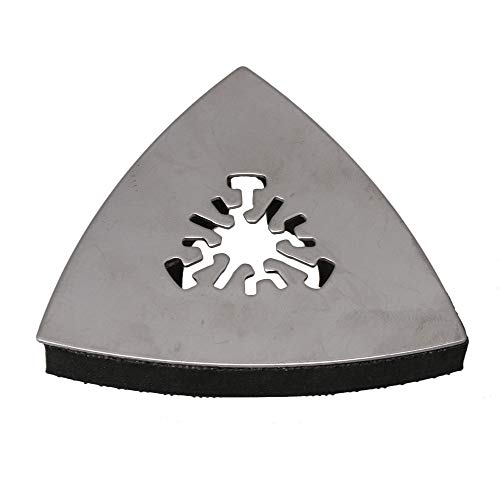 Best Buy! Universal Triangular Sandpaper Tray 80mm Cnc Sanding Tool For A Variety Of Rough Surfaces