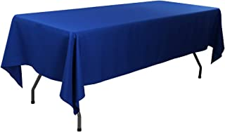 Waysle 60 x 126-Inch Rectangular Tablecloth, 100% Polyester Washable Table Cloth for 8Ft. Rectangle Table, Royal Blue