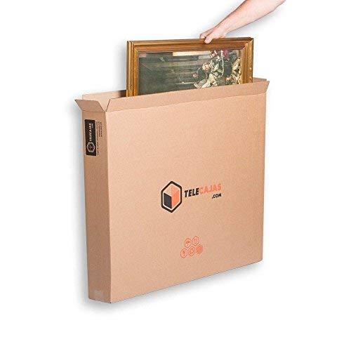 TeleCajas | (10x) Cajas para Cuadros, Espejos, Televisor | 81x13x69 cms | Solapa Doble y Canal Doble Resistente