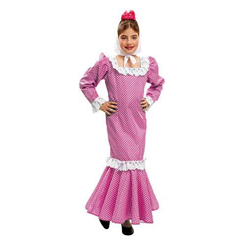 My Other Me - Disfraz de madrileña para niña, talla 7-9 años, color rosa (Viving Costumes MOM02152)
