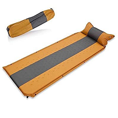 Newdora Sleeping Pad with Pillow - Self Inflating Sleeping Pad is Ideal for Camping Hiking Backpacking - Camping Pad - Never let Your Arms & Foot Feel The Ground - Inflatable Air Mat