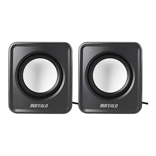 BUFFALOPC用スピーカーUSB電源コンパクトサイズブラックBSSP105UBK