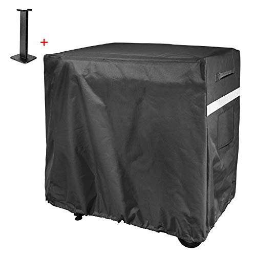 Hisencn Griddle Cover for FTG600 Camp Chef Flat Top Grill Patio Cover, 600D Heavy Duty Full Size BBQ Cover with Support Pole to Prevent Water Leaking, Waterproof and Fade Resistant
