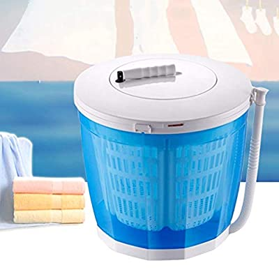 Mini Washing Machine, 2 in1 Portable Hand-Operated Spin Dryer Manual Washing Machine for Outdoor Camping Travel