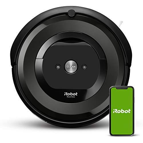 iRobot Roomba E5 Robot Vacuum Robot Vacuum - Wi-Fi Connected, Works with Alexa, Ideal for Pet Hair, Carpets, Hard, Self-Charging Robotic Vacuum, Black (Renewed)