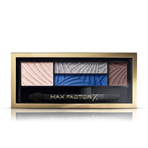 Max Factor Smokey Eye Drama Kit Azure Allure 06 – Lidschatten-Palette mit 4 neutralen und blauen Tönen mit mattem und schimmerndem Finish – Schmeichelt braunen Augen