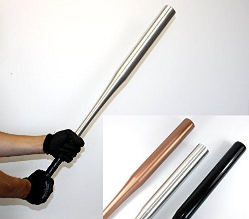 Baseballschläger -K&B Vertrieb- Baseball Bat Holzbaseballschläger Holzschläger Schläger 569 (4 Stück Alu silber)