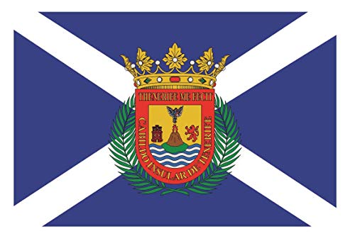 U24 Motorradflagge Teneriffa Fahne Flagge 20 x 30 cm