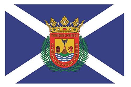 U24 Aufkleber Teneriffa Flagge Fahne 12 x 8 cm Autoaufkleber Sticker