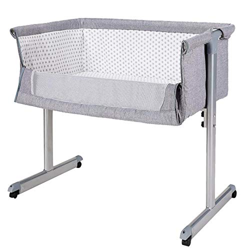 41CxzRJLJLL - Baby Bassinet RONBEI Bedside Sleeper Adjustable Portable Bed