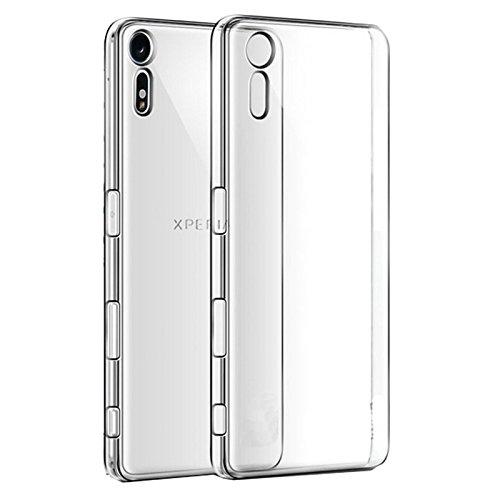 Eximmobile Silikonhülle für Sony Xperia X Performance | Handyhülle für hinten | Schutzhülle aus hochwertigem TPU Handytasche mit gutem Schutz Cover Hülle in transparent | Handy Tasche Silikoncase Etui