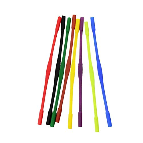 Lentes de silicona Correa portátil deporte al aire libre antideslizante Gafas de retención colorido Holder elástico de la correa de las lentes de los vidrios de 8pcs para niños