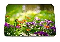 22cmx18cm マウスパッド (花フィールド植物ハーブ) パターンカスタムの マウスパッド