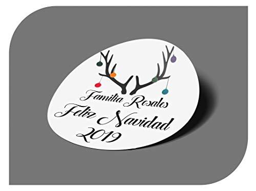 CrisPhy Pegatinas Personalizadas Regalos Navidad, Etiquetas Adhesivas para Invitacion Boda, Bautizo, Compromiso,...