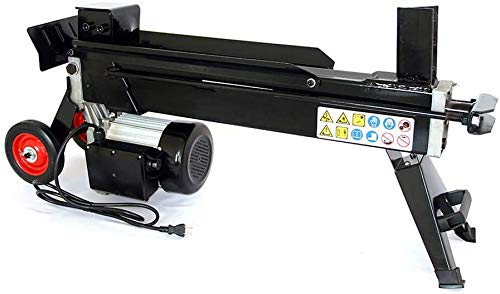 Powerful 3HP Log Splitter, 7.5 Ton Hydraulic Electric Wood Splitter Auto-Return with Wheels, Built-in Side Rails Keep logs Stable While Splitting