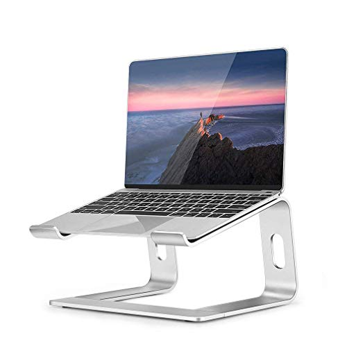 Supporto PC Portatile Laptop Stand in Alluminio Ergonomico Ventilato Supporto per MacBook Air PRO, dell XPS, HP, Lenovo Altri Portatili da 10-15,6' (Argento)