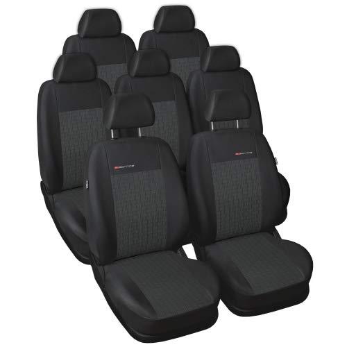 Auto. schonbezüge siège rabattable coussins de siège bien adapté pour seat alhambra iI siège enfant intégré 7 places à partir de 2010-- elegance line **