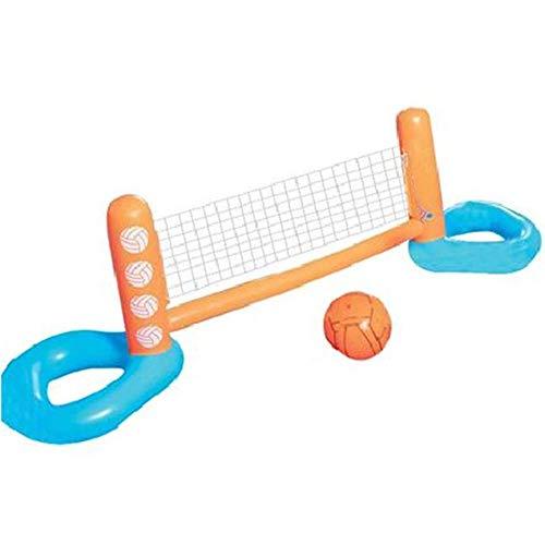 N\A Red de Voleibol Flotante Inflable, Juguetes de Agua Flotante para Piscina, con Pelota Inflable Inflable incluida, para niños y Adultos en la Piscina o la Playa al Aire Libre