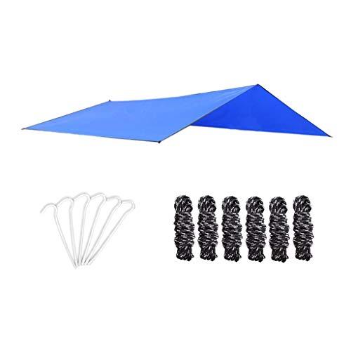 Générique Set Camping Bâche Anti-Pluie, Imperméable Tente Parasol Abri de Survie, Cordes en Nylon et Piquets de Tente, Équipement de Camping et Randonnée - B
