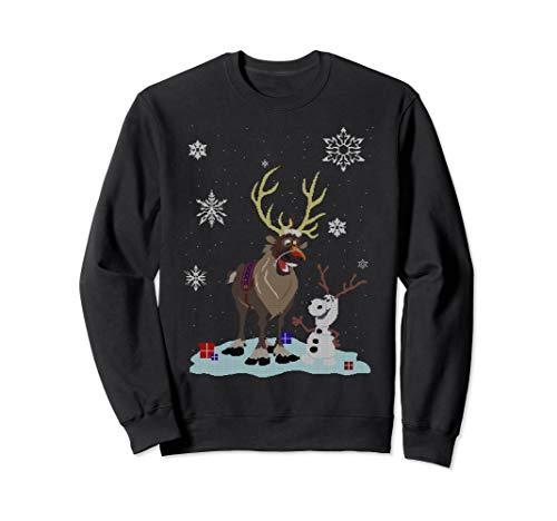 Disney Frozen Olaf And Sven Snowfall Friends Sweatshirt
