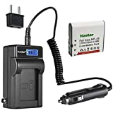 Kastar 1-Pack GB-60 Battery and LCD AC Charger Compatible with GE GB-60 GB60 Battery, GE GE X600 GE General Imaging Power Pro X600 Digital Camera SOSUN Sosun 301S-Plus Camera Camcorder