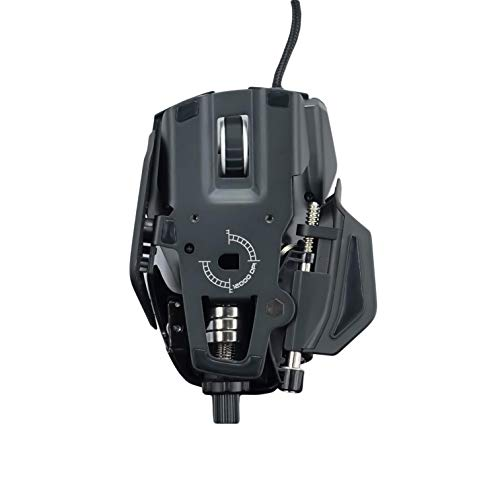 Mad Catz MR05DCINBL000-0 R.A.T. 8+ - Ratón (mano derecha, Óptico, USB, 16000 DPI, 16000 pps, Negro), rojo
