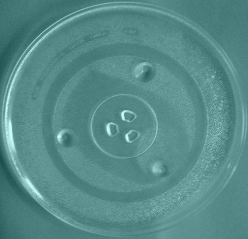 Mikrowellenteller / Drehteller / Glasteller für Mikrowelle # ersetzt Inotec Mikrowellenteller # Durchmesser Ø 31,5 cm / 315 mm # Ersatzteller # Ersatzteil für die Mikrowelle # Ersatz-Drehteller # OHNE Drehring # OHNE Drehkreuz # OHNE Mitnehmer