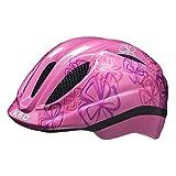 KED Meggy Trend S/M Pink Flower – 49 – 55 cm – incl. cintura di sicurezza RennMaxe – Casco da bicicletta, casco da skater per MTB, BMX, bambini e ragazzi