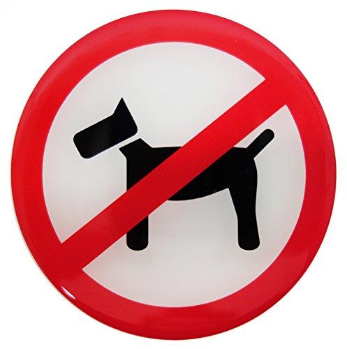 Stickers 3D 900010 verbodsschild waarschuwing honden verboden geen honden - uitstekende bescherming tegen weersinvloeden geen goedkope foliestickers