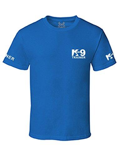 Gs-eagle Men's K-9 Trainer Graphic T-Shirt Large Royal Blue