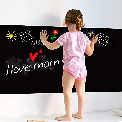 RA0128 Adesivo murali pellicola lavagna nera per tutte le superfici lisce piastrelle tavoli armadi cucine elettrodomestici riscrivibile con gessetto