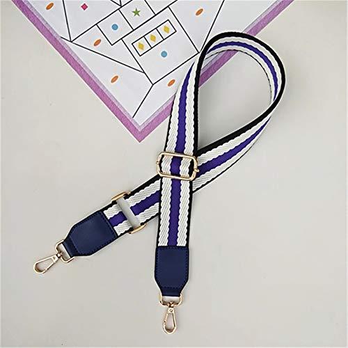 Shop-PEJ Cinturones de Colores de Lujo Bolsas de Correa Accesorios para Mujer Arco Iris Ajustable Hombro Hombro Perspectiva Bolso Correas Manija Decorativa Regalo para Mujer Bolso/Monedero