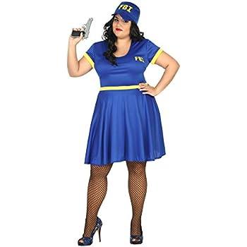 Atosa- Disfraz Mujer policía FBI, XL (15448): Amazon.es: Juguetes ...