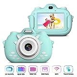 Kinder Videokamera Rekorder, Stoßfeste Wiederaufladbare Selfie Kamera mit 32GB SD Karte, 3 Inch