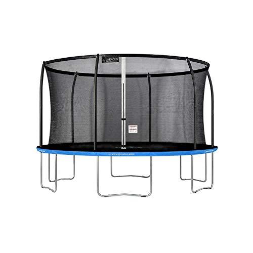 GREADEN - Cama elástica de jardín, Redonda, Freestyle Color Azul, Azul