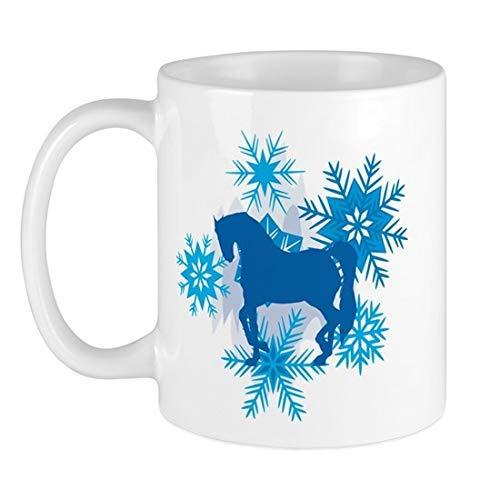 N\A Taza de cerámica con Copos de Nieve andaluces, Taza de cerámica de 11 onzas, Divertida Taza de café novedosa, Mejor Idea navideña, Vacaciones de año Nuevo para Familiares, Amigo