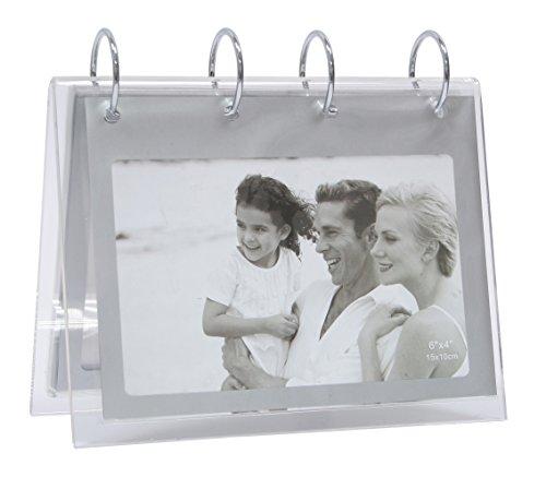Deknudt Frames S58RS3 Verzeichnis für 20 Fotos, 10 x 15 cm, silberfarben