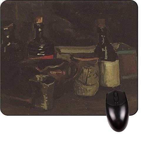 Vincent Van Goghs Stillleben mit Flaschen und Steingut - Vincent Willem Van Gogh / Postimpressionist / Postimpressionismus / Niederländisch / Niederlande / Frankreich / Französisch / Painter-Square Mo