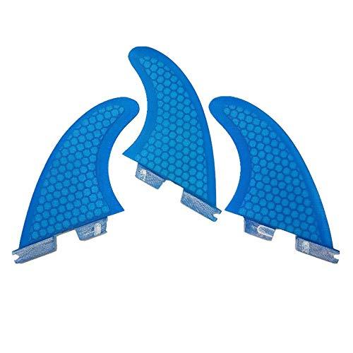 UPSURF Tabla de Surf 3Aletas FCS II G3/G5/G7 Surf Tener Panal+Fibra de Vidrio Aleta (Azul G5)