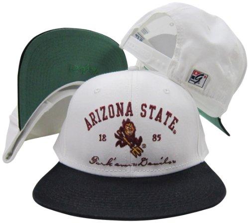 Arizona State Sun Devils Fork Em Devils Snapback Adjustable Plastic Snap Back Hat/Cap White