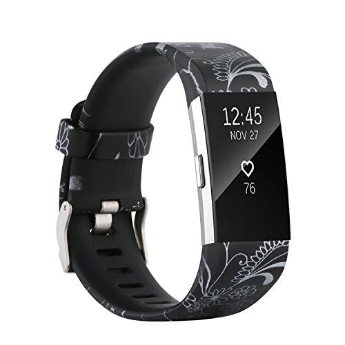 Fit-power - Correa de repuesto para Fitbit Charge 2, accesorio ajustable para pulsera de actividad física Fitbit Charge 2, pequeña y grande